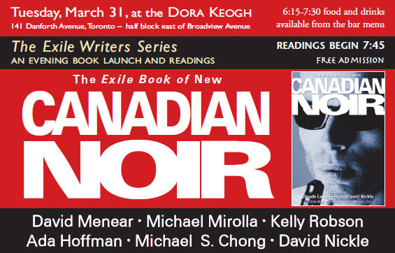 New Canadian Noir launch March 31