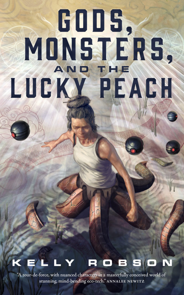 Cover for Gods, Monsters, and the Lucky Peach, out March 16. Cover by Jon Foster http://www.jonfoster.com/