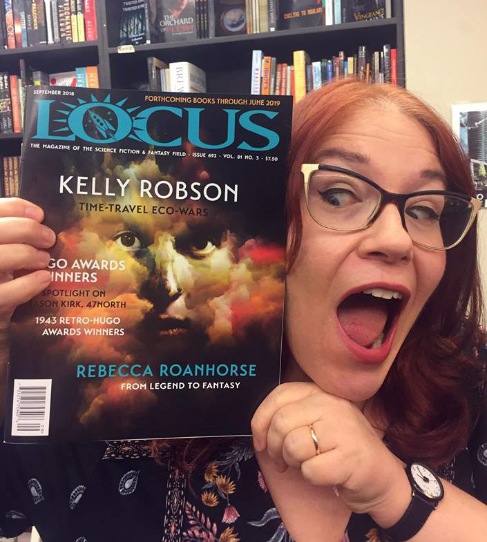 Me freaking out over having my name on the cover of Locus